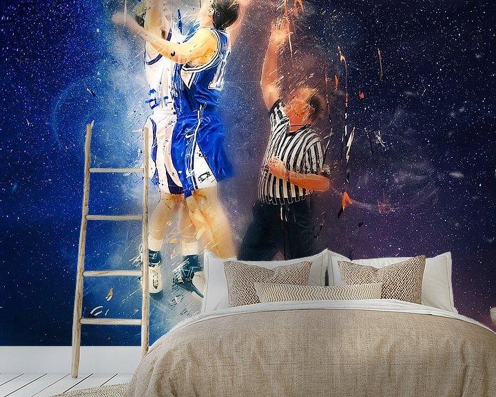 Sfeerimpressie behang: basketbal van Peter Roder