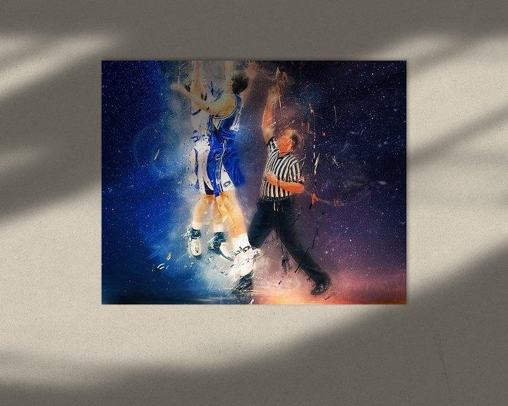Sfeerimpressie: basketbal van Peter Roder