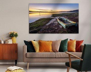 Zonsondergang in Knysna (Zuid-Afrika). van Claudio Duarte