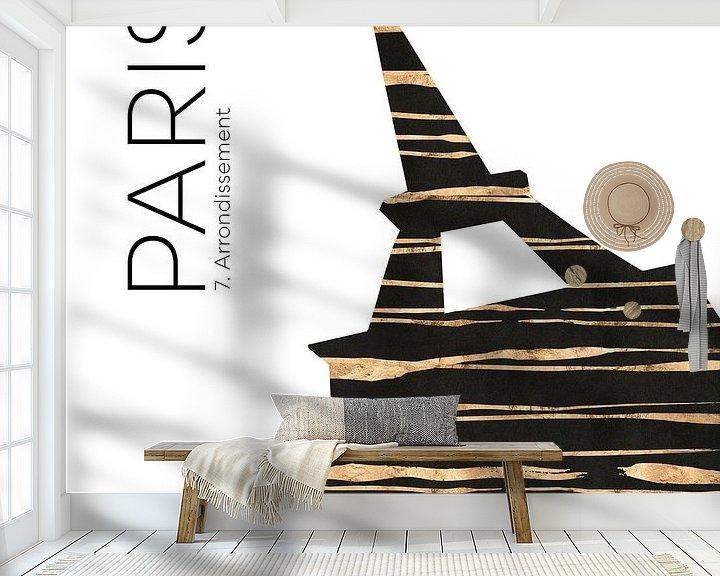 Beispiel fototapete: Urban Art PARIS Eiffelturm von Melanie Viola