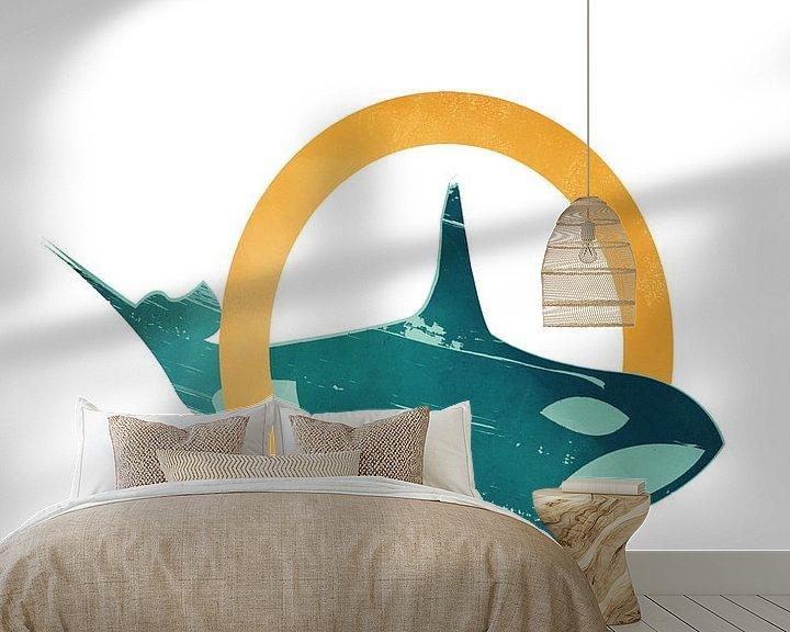 Beispiel fototapete: O - Orca von Goed Blauw