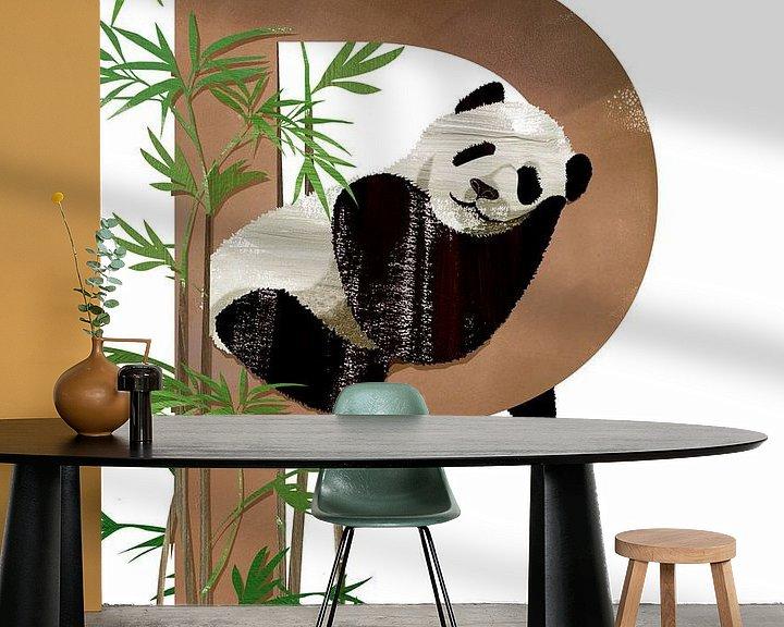 Beispiel fototapete: P - Panda von Goed Blauw