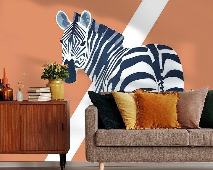 Beispiel fototapete: Z - Zebra von Goed Blauw
