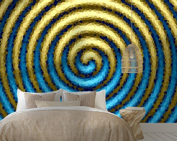 Beispiel fototapete: Spirale blau-gold von Marion Tenbergen