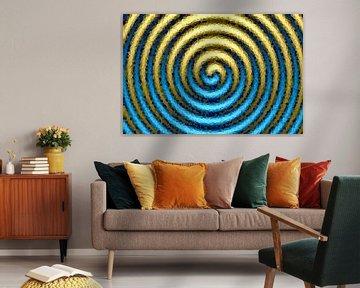 Spirale blau-gold