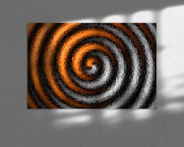 Spirale Orange-grau
