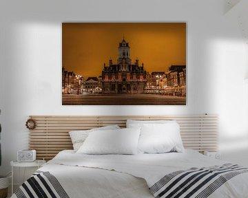 Das alte Rathaus von Delft von Michael Fousert