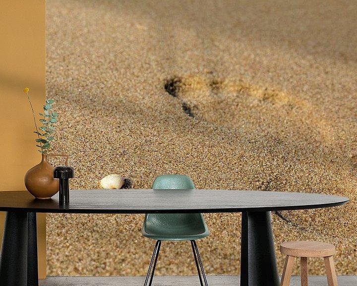 Beispiel fototapete: Spuren im Sand von Frank Heldt