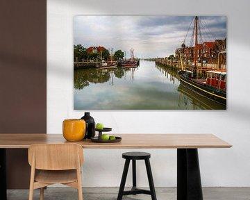 Veerboot haven Neuharlingersiel van Werner Reins