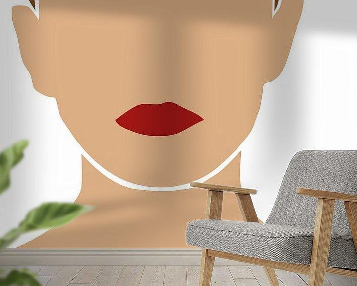 Beispiel fototapete: Illustration Mädchen von Eline Willekens