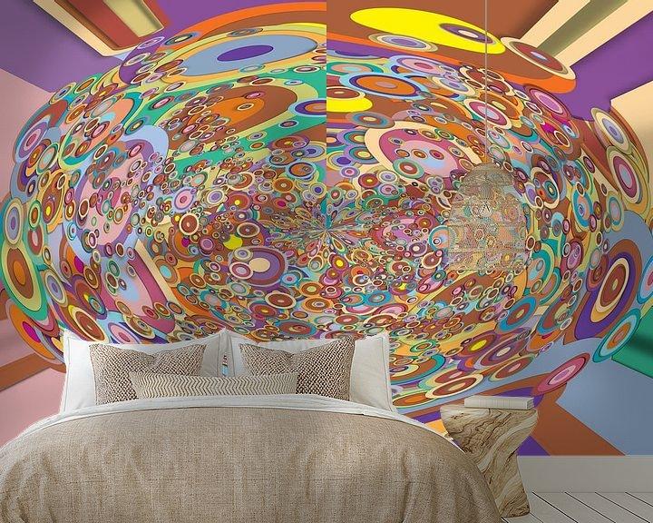 Beispiel fototapete: Abstrakte Arbeit mit Kreisen 'Herbst'. von Ton Kuijpers