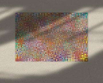Abstract werk 'Herfst' van Ton Kuijpers