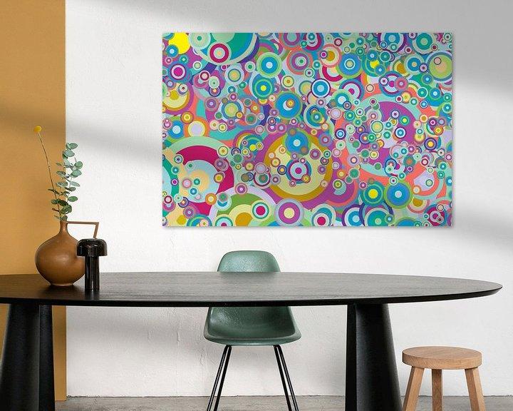 Beispiel: Abstrakte Arbeit mit Kreisen 'Frühling'. von Ton Kuijpers
