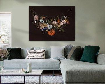 Festoon mit Blumen, Rachel Ruysch