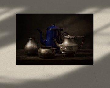 Drei Zinn, ein Blau von Alexander Tromp