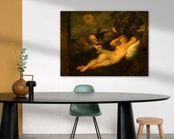 Gemälde, Angelika vom Eremiten bespitzelt von Atelier Liesjes