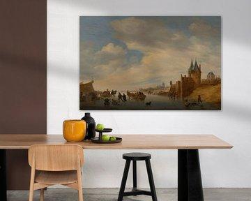 Gemälde, Winterlandschaft bei Arnheim von Atelier Liesjes