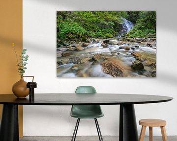 Verborgen watervallen Japan van Original Mostert Photography
