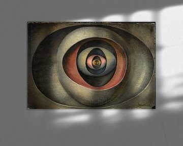Abstraktes Kunstwerk, Auge im Ei von Atelier Liesjes