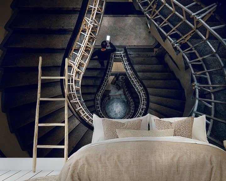 Beispiel fototapete: Prag Staircase von Iman Azizi