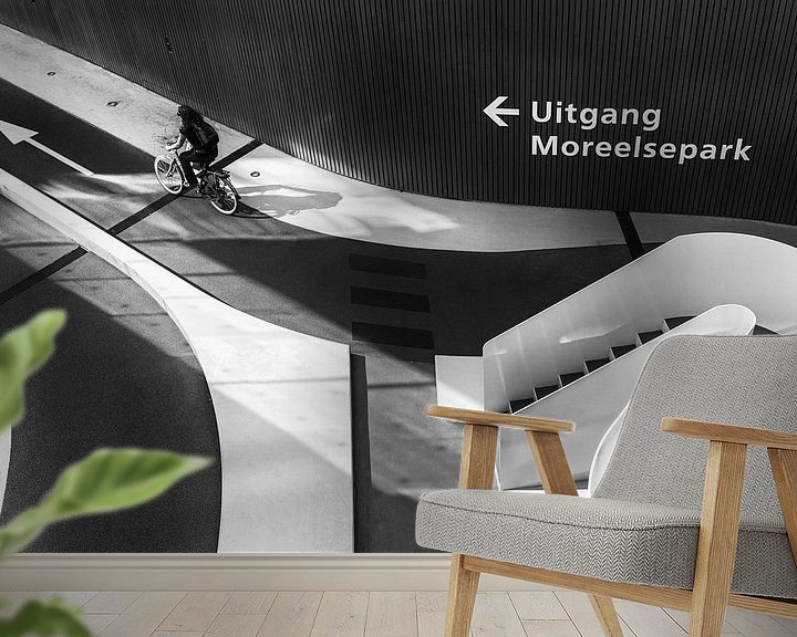 Sfeerimpressie behang: Exit Moreelsepark van Thomas van Galen