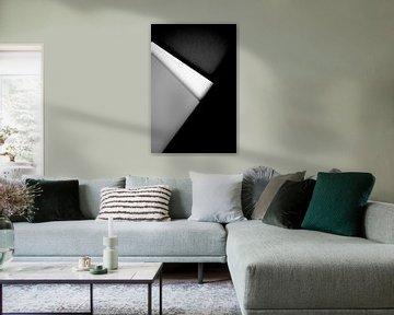 Minimalistische schwarz-graue weiße Linien https://www.facebook.com/PortraitsDoubleExposure/ von Dreamy Faces