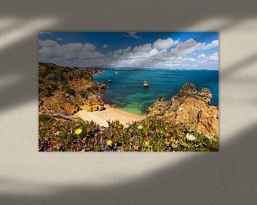 Praia do Camilo in Lagos, Algarve, Algarve van Werner Dieterich