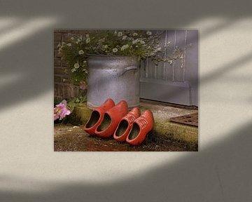 Rode klompen van Arie van Ledden