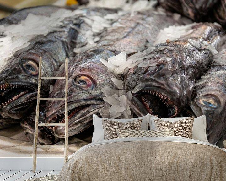 Sfeerimpressie behang: Vissen van Hans Verhulst