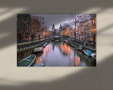 Spiegelgracht in Amsterdam van Romy Oomen