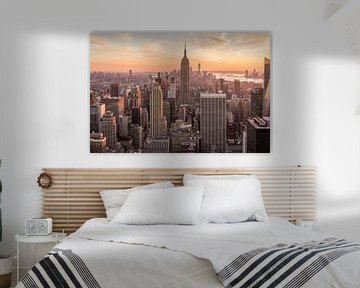 New York City Skyline van Marien Bergsma