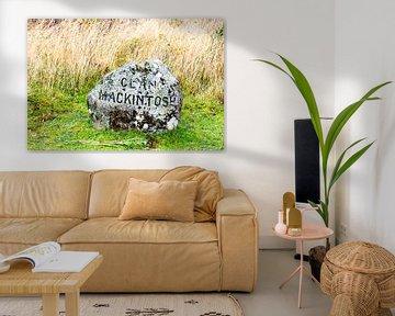En grafsteen bij Colloden Moor van Hans Verhulst