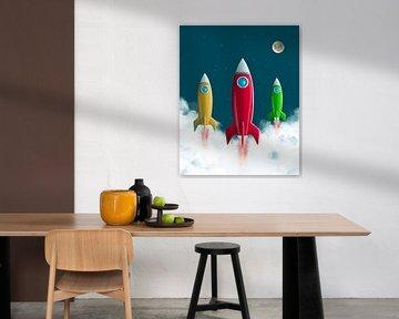 Rakete zum Mond von Leon Brouwer