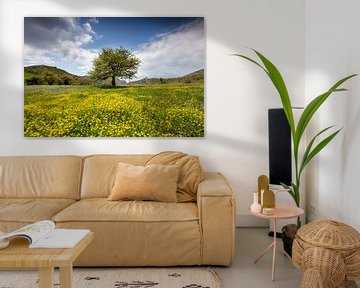 Baum auf Blumenwiese von Antwan Janssen