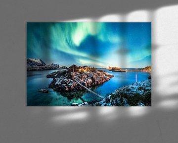 Noorderlicht boven het eiland Senja, Noorwegen