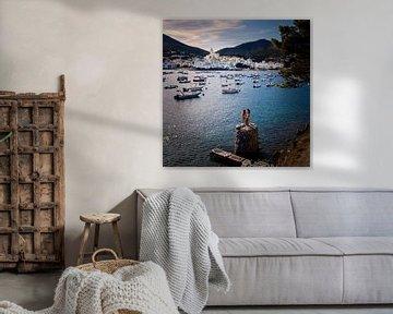 Uitzicht over de haven van Cadaqués in Spanje