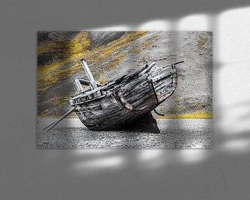Gestrand schip van Cor de Bruijn