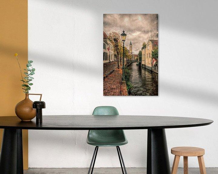Sfeerimpressie: Lange Gracht historisch Amersfoort van Watze D. de Haan