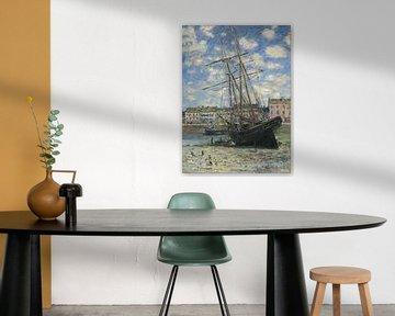 Boot liegt bei Ebbe, Claude Monet