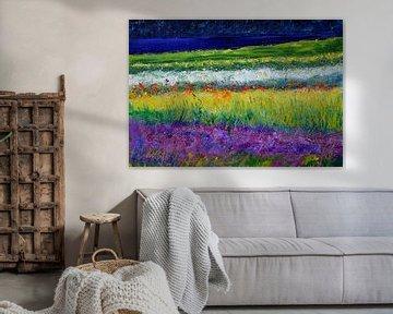 Ein Feld mit Blumen von pol ledent