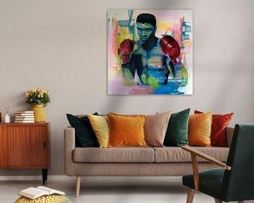 Muhammad Ali Malerei von Jos Hoppenbrouwers