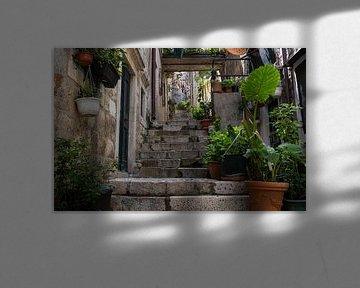 Straatje in Dubrovnik van Daan Kloeg