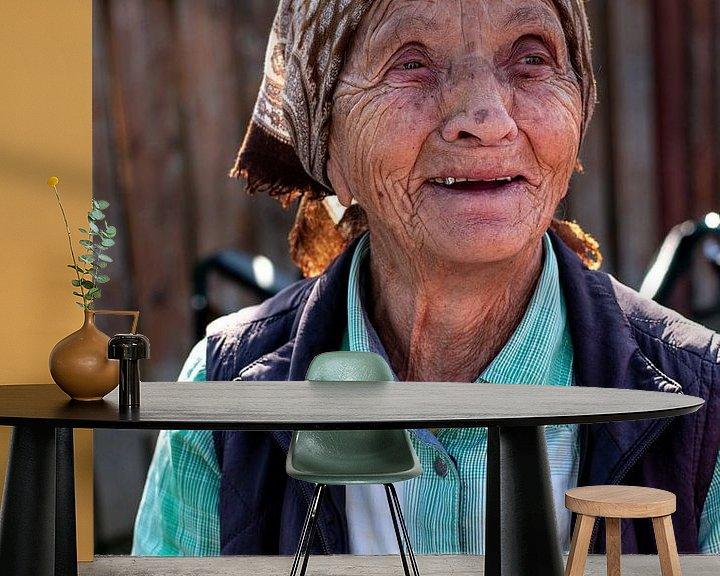 Sfeerimpressie behang: Lachen van Amber de Jongh