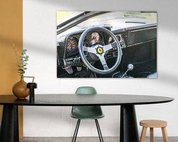 Ferrari Testarossa Italiaanse iconische klassieke Italiaanse sportwagen dashboard van Sjoerd van der Wal