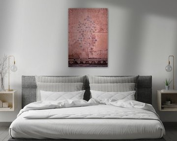 Wandfresko in der amber Festung von Jaipur von Karel Ham