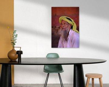 Typischer indischer Mann mit Turban von Karel Ham