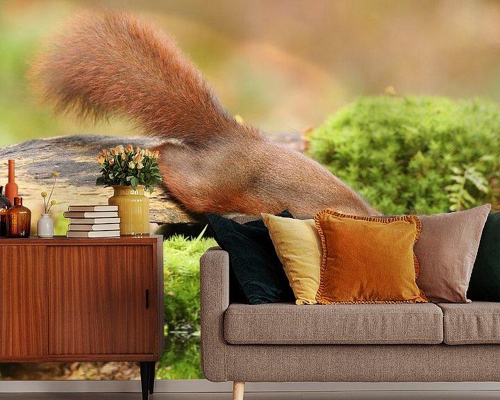 Sfeerimpressie behang: Eekhoorn van Erik Veltink