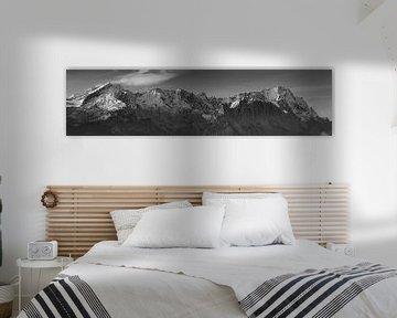 Zugspitze Panorama SchwarzWeiss von Andreas Müller