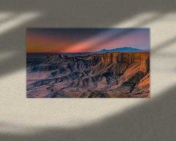 Panorama van de Badlands, Utah van Henk Meijer Photography
