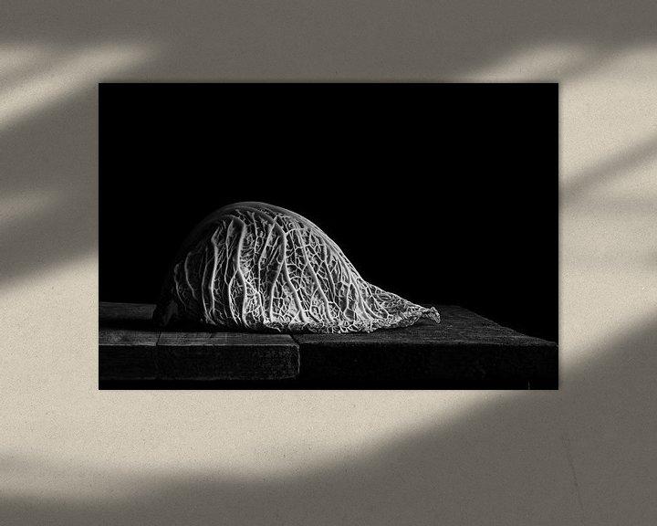 Sfeerimpressie: Savooiekool, zwart wit van Mariska Vereijken